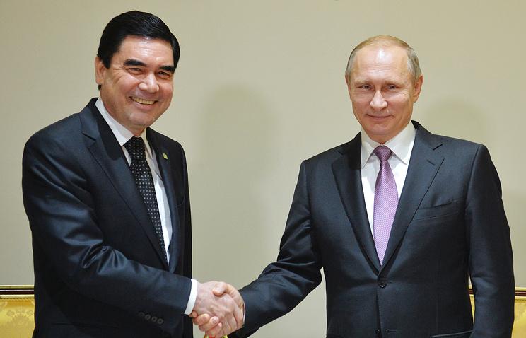 Путин проведет встречу спрезидентом Туркменистана 1ноября