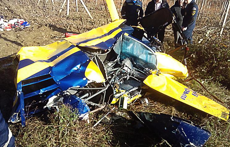 Крушение вертолета в Крыму: погибли два человека, опубликованы фото