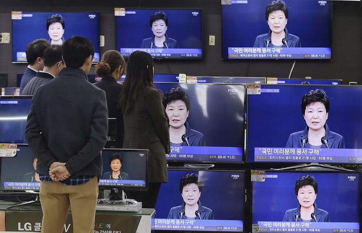 Президент Южной Кореи выразила готовность покинуть собственный пост порешению парламента
