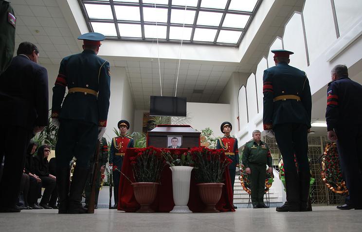ВВоронеже установили мемориальную доску вчесть погибшего вСирии военного