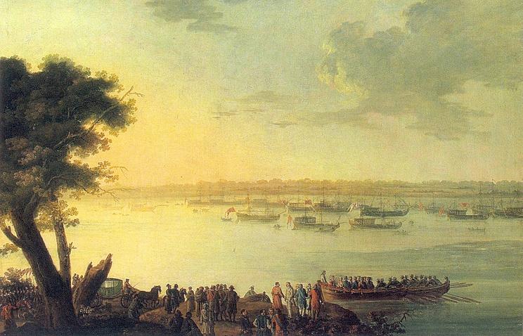 Отправление Екатерины II из Канева в 1787 году