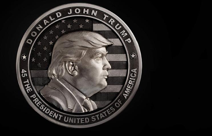 В РФ выпустили монету сДональдом Трампом