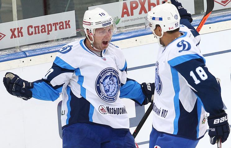 «Витязь» прервал победную серию из 8-ми матчей вКХЛ, уступив минскому «Динамо»