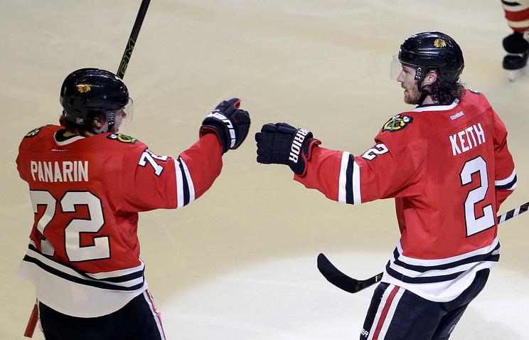 Шайба Панарина помогла «Чикаго» одолеть «Айлендерс» вматче НХЛ