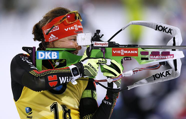 Дальмайер выиграла гонку преследования наэтапе Кубка мира побиатлону