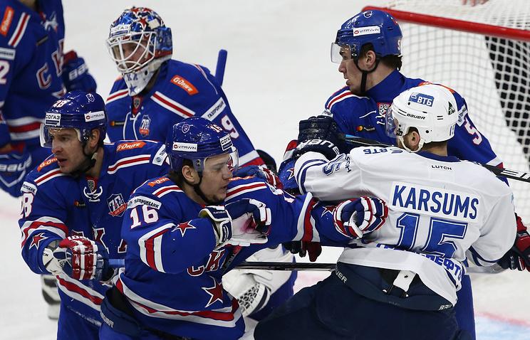 СКА одержал победу у«Динамо» иповел всерии