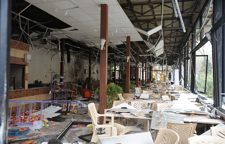 Ресторан после теракта в Дамаске