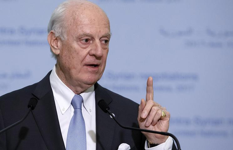 ДеМистура встретится спредставителями Турции допереговоров вЖеневе
