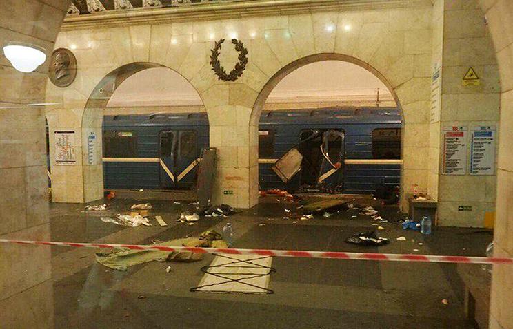 """Станция """"Технологический институт"""" после теракта, Санкт-Петербург"""