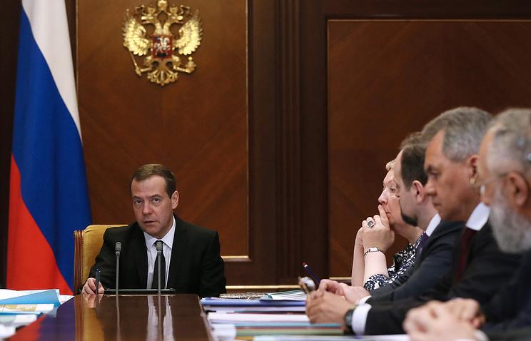 Дмитрий Медведев во время совещания по вопросам развития Арктики