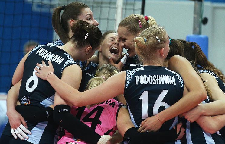 Волейболистки казанского «Динамо» впервый раз завоевали Кубок Европейской конфедерации волейбола