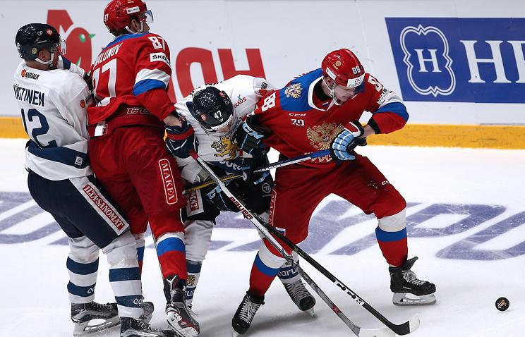 Сборная Российской Федерации проиграла финским хоккеистам вматче Евротура