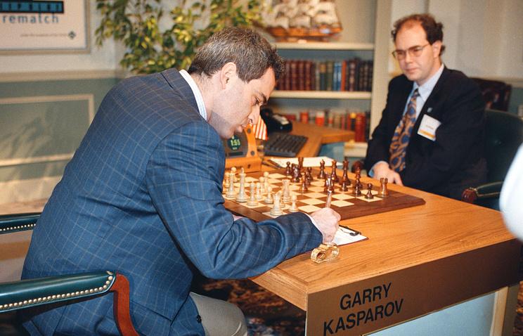 Шахматная партия между Гарри Каспаровым и Deep Blue