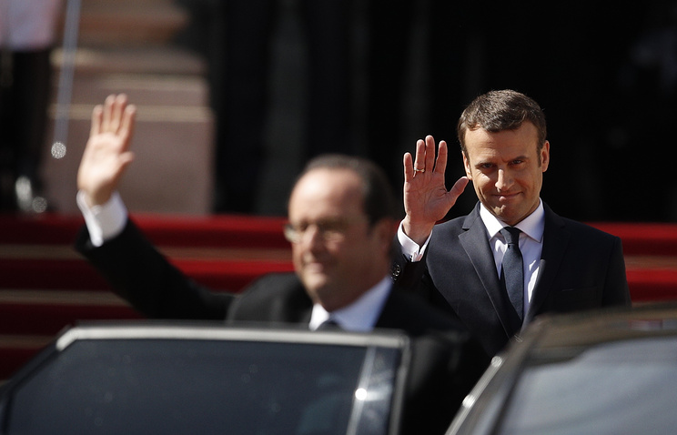 Франсуа Олланд и Эмманюэль Макрон