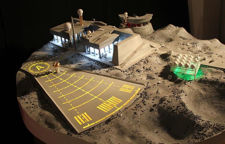 Макет лунной базы