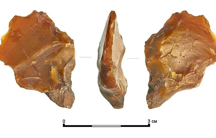 Древнейший кремниевый резец искребок найдены вцентральной части Москвы