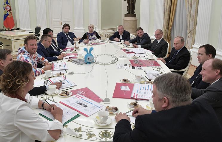Владимир Путин на встрече с представителями ведущих мультипликационных студий, 31 мая