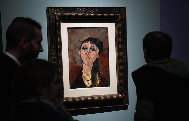 Открытие выставки Амедео Модильяни в Палаццо Дукале, Генуя, 15 марта