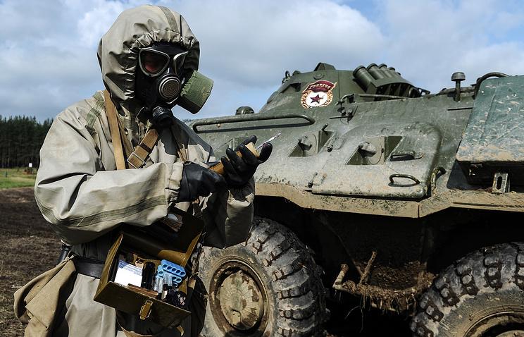 Военнослужащий бригады радиационной, химической и биологической защиты