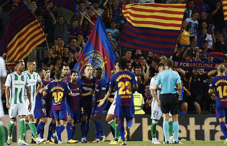 «Барселона» сыграет с«Бетисом» в особых футболках впамять ожертвах теракта