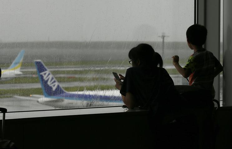 Неменее  570 авиарейсов отменены вЯпонии из-за мощного тайфуна «Талим»