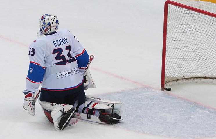 Ежов из«Нефтехимика» признан лучшим вратарем недели вКХЛ