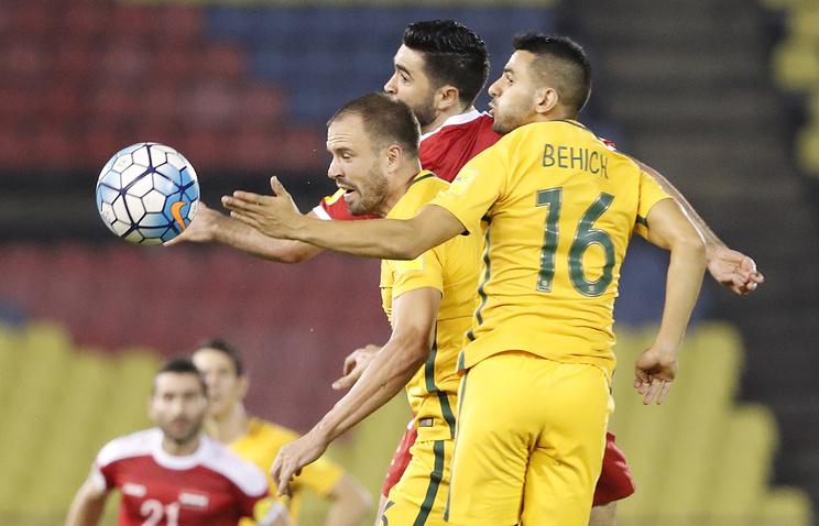 Австралийцы несумели переиграть Сирию встыковом матче отбора кЧМ