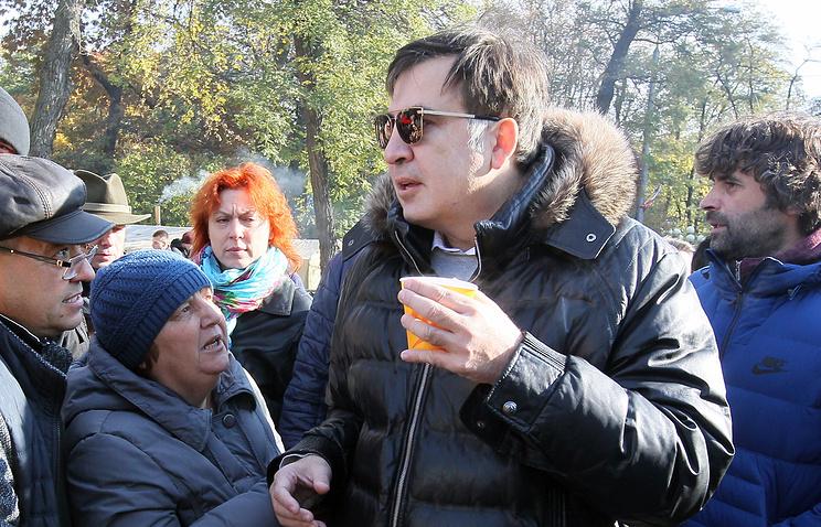 """Лидер партии """"Рух новых сил"""" Михаил Саакашвили"""