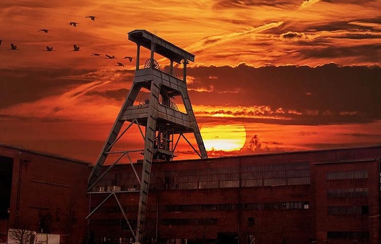 Угольные шахты и завод по добыче Zeche Ewald (Боттроп, Германия)
