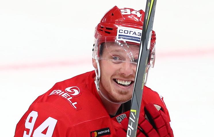 «Спартак» одержал победу у«Салавата Юлаева» вматче КХЛ срезультатом 3:2