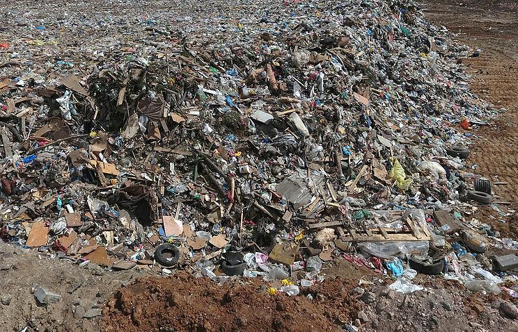 """Полигон бытовых отходов """"Кучино"""" в подмосковной Балашихе"""