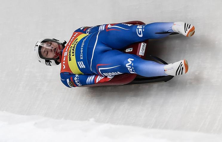 Саночник Павличенко одержал победу золото наэтапе Кубка мира