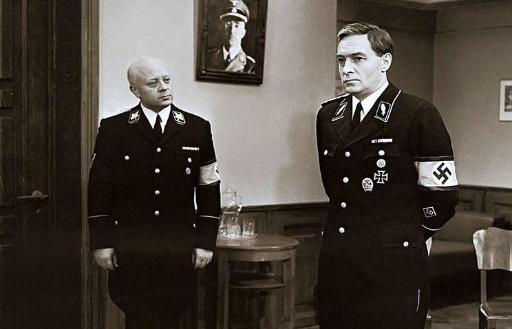 """Кадр из фильма """"Семнадцать мгновений весны"""", 1973 год"""
