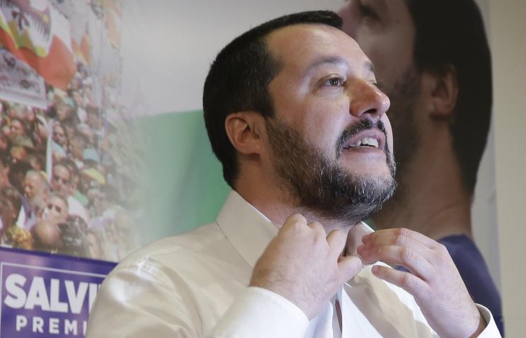 """Лидер партии """"Лига"""" Маттео Сальвини"""