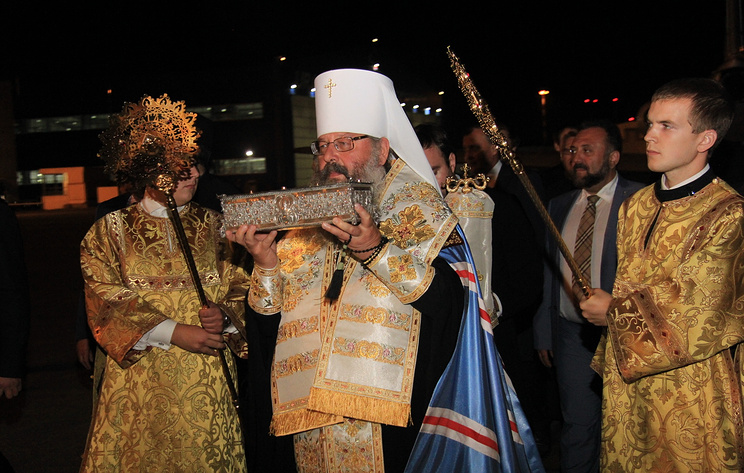 Ковчег смощами Спиридона Тримифунтского прибыл вЕкатеринбург