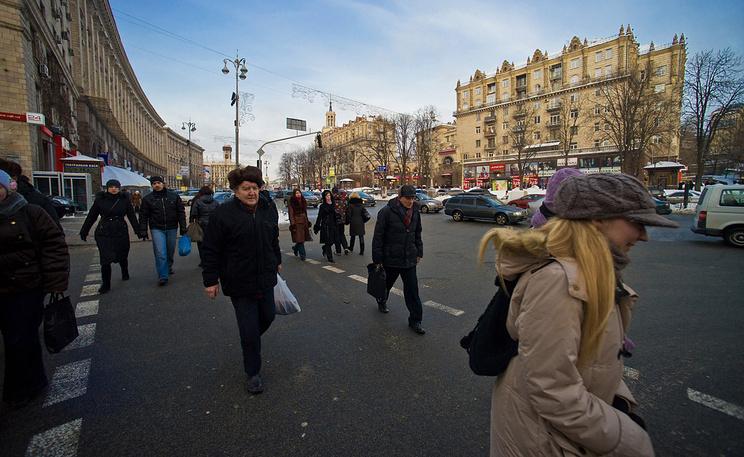 Киев, на улице Крещатик. Фото ИТАР-ТАСС