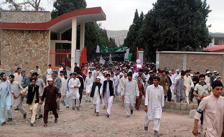 Акция против расстрела мирных афганцев прошла в Джелалабаде. Фото ЕРА/ИТАР-ТАСС