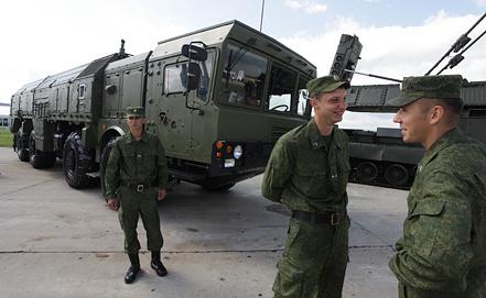 """Оперативно-тактический ракетный комплекс """"Искандер"""", фото ИТАР-ТАСС"""