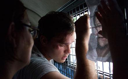 Дмитрий Монахов на митинге в поддержку Алексея Навального. Фото ИТАР-ТАСС