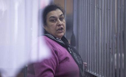 Валентина Лебедева, одна из подсудимых по делу о беспорядках в поселке Сагра, во время оглашения приговора. Фото ИТАР-ТАСС/ Антон Буценко