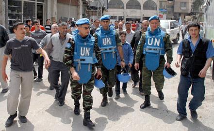 Миссия наблюдателей ООН в Сирии. Фото ЕРА/ИТАР-ТАСС