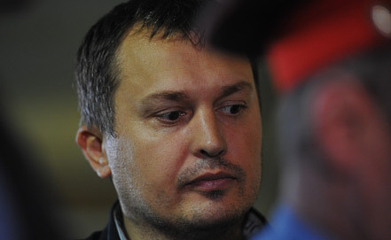 Станислав Соловьев в зале суда. Фото ИТАР-ТАСС/ Антон Новодережкин