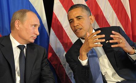 Президент России Владимир Путин и президент США Барак Обама во время встречи в преддверии саммита G20 в Мексике. Фото ИТАР-ТАСС/ Алексей Никольский