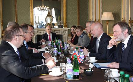 Заседание российско-британского Стратегического диалога. Фото EPA/ИТАР-ТАСС