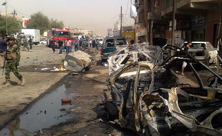 Последствия одного из терактов в Багдаде. Фото EPA/ИТАР-ТАСС
