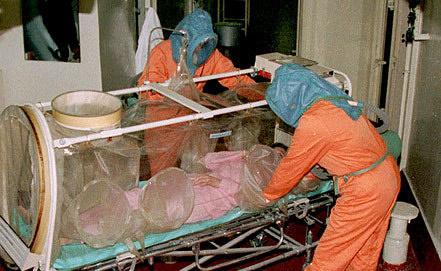 Лечение больного сибирской язвой. Фото ИТАР-ТАСС