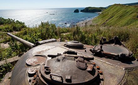 Линия береговой обороны на острове Кунашир. Фото ИТАР-ТАСС