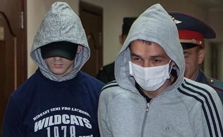 Обвиняемые перед началом заседания, фото ИТАР-ТАСС