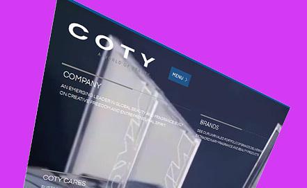 Скриншот www.coty.com