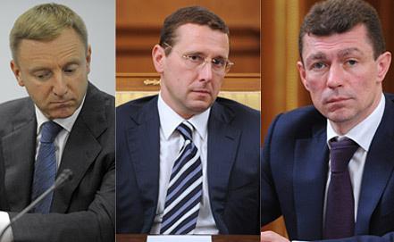 Дмитрий Ливанов, Олег Говорун, Максим Топилин (слева направо). Фото ИТАР-ТАСС